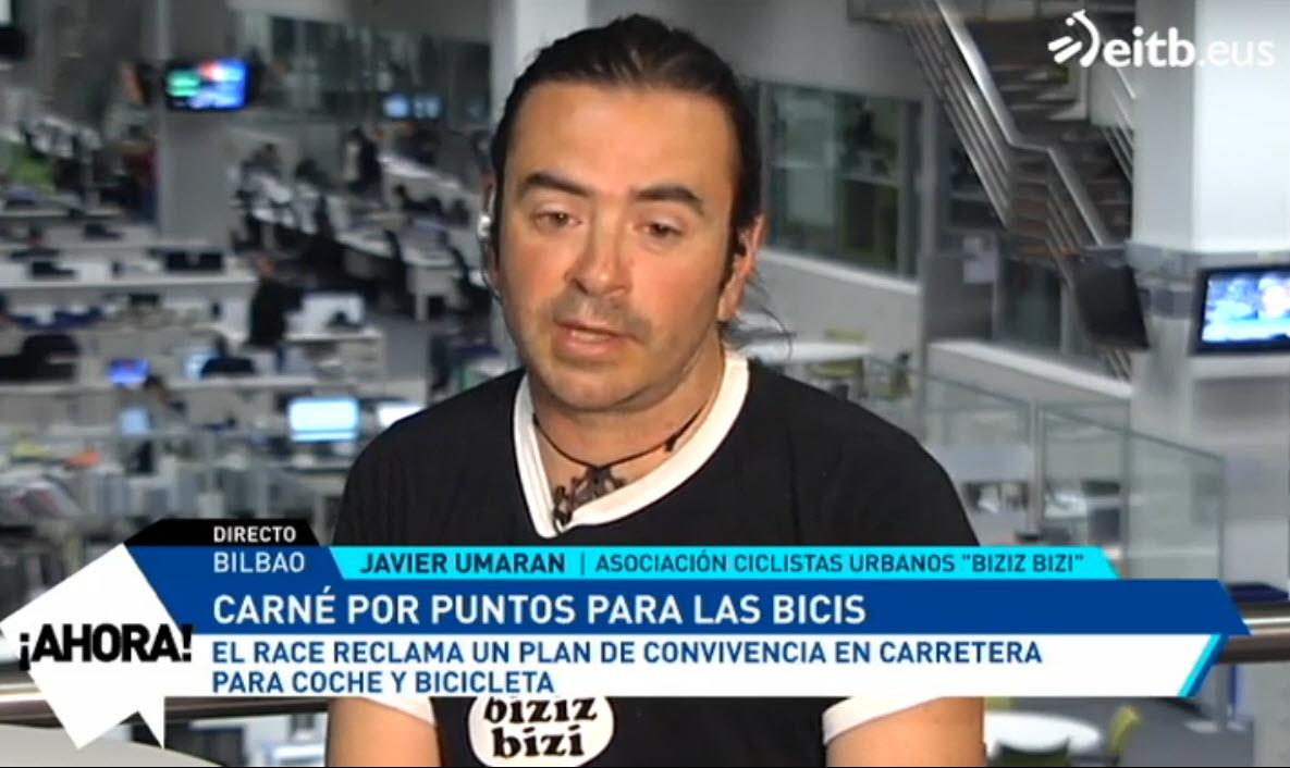 "Biziz Bizi en Eitb: ""Carné por puntos para las bicis"""