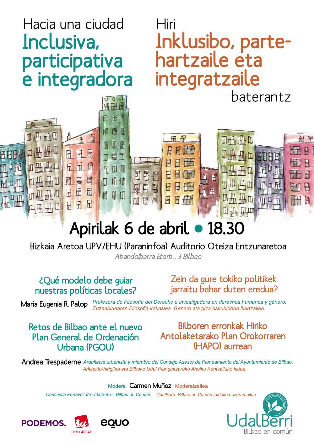 Charla: Ciudad inclusiva, participativa e integradora