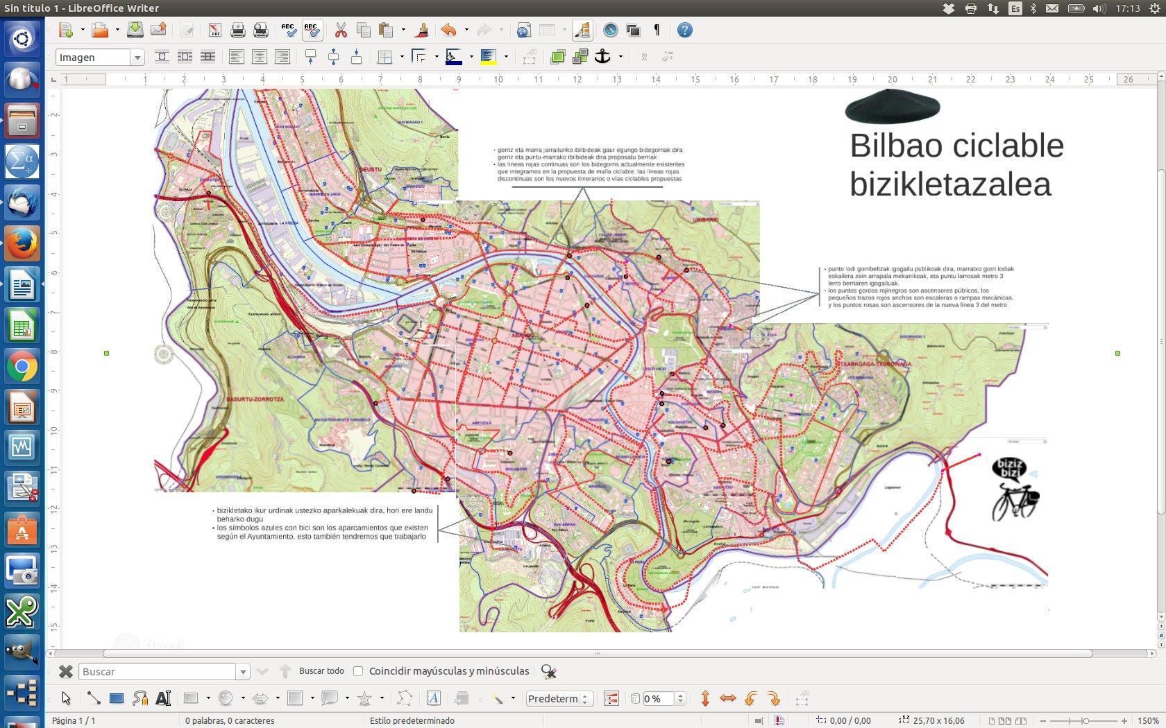 La malla de Bilbao Ciclable