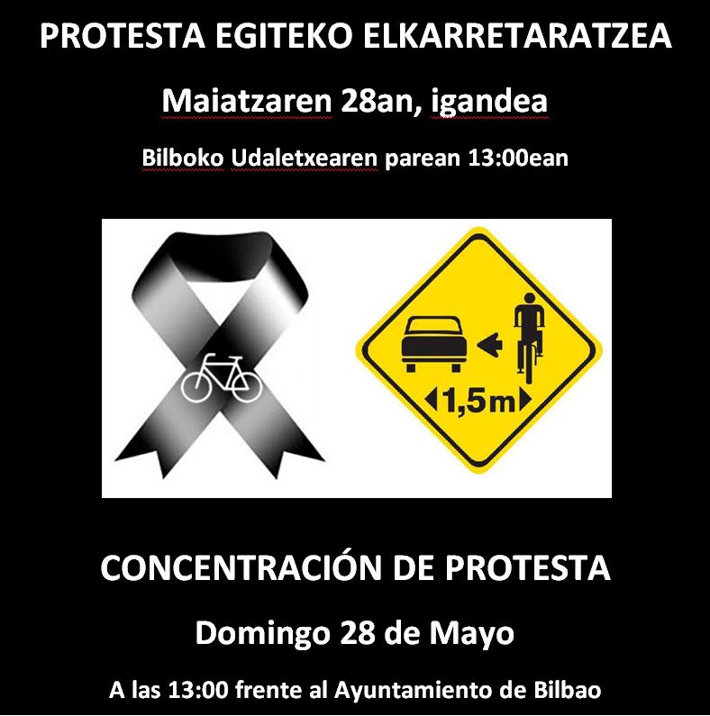 Convocatoria de protesta el 28 de Mayo