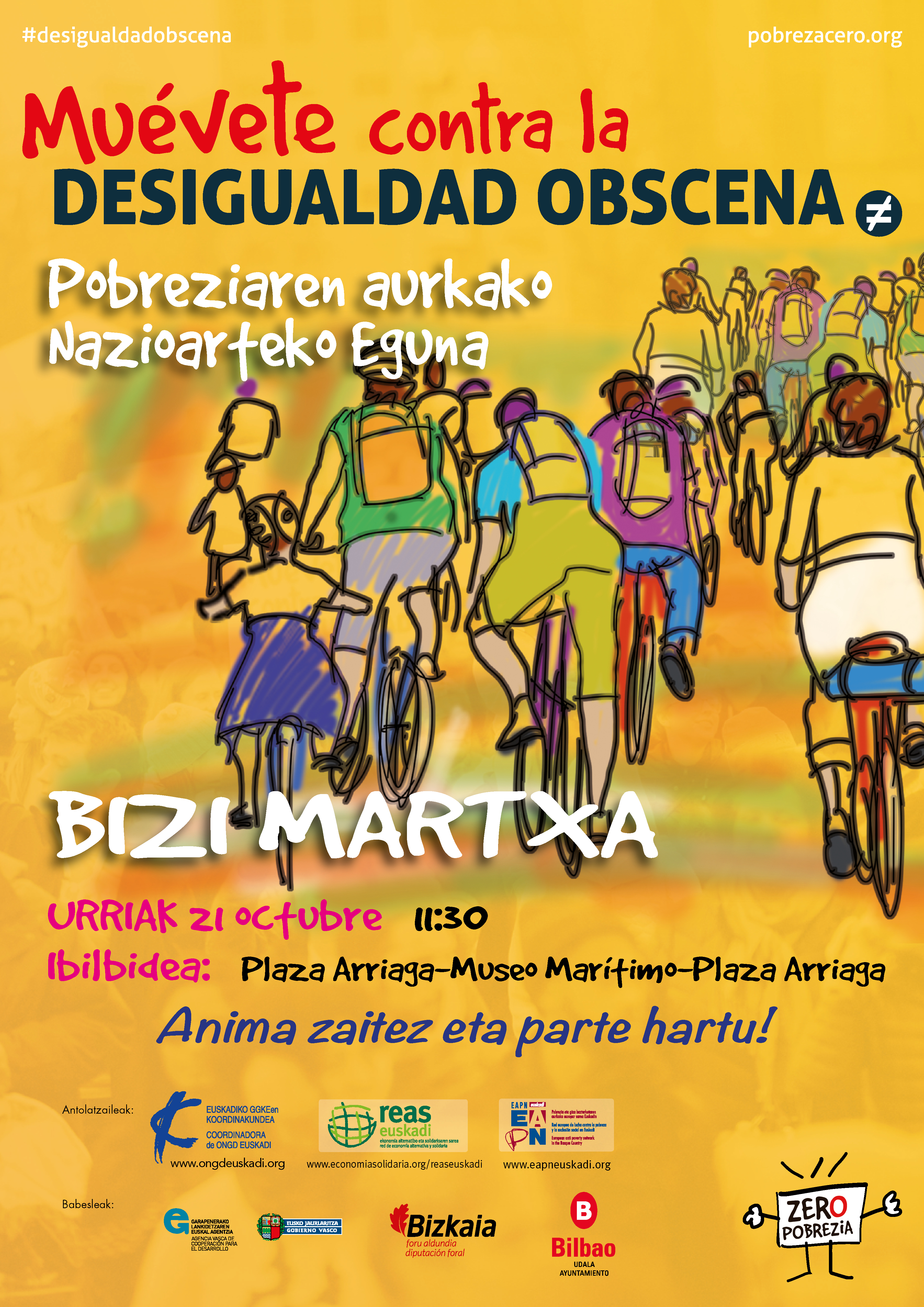 Bici marcha contra la pobreza y la desigualdad