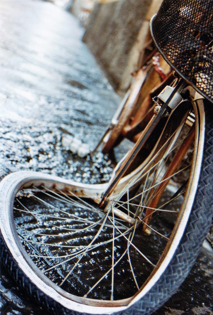 Atropello ciclista en el puente de Deusto