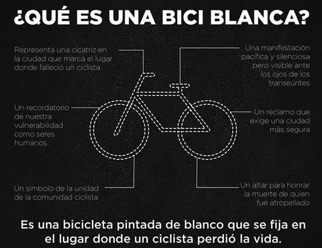Bici Blanca por Irene + Masa Crítica