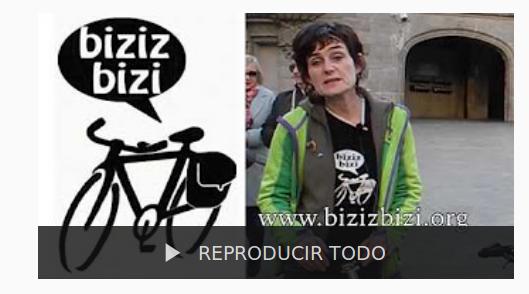 Biziz Bizi ante la celebración del I encuentro de la bici urbana en Bilbao