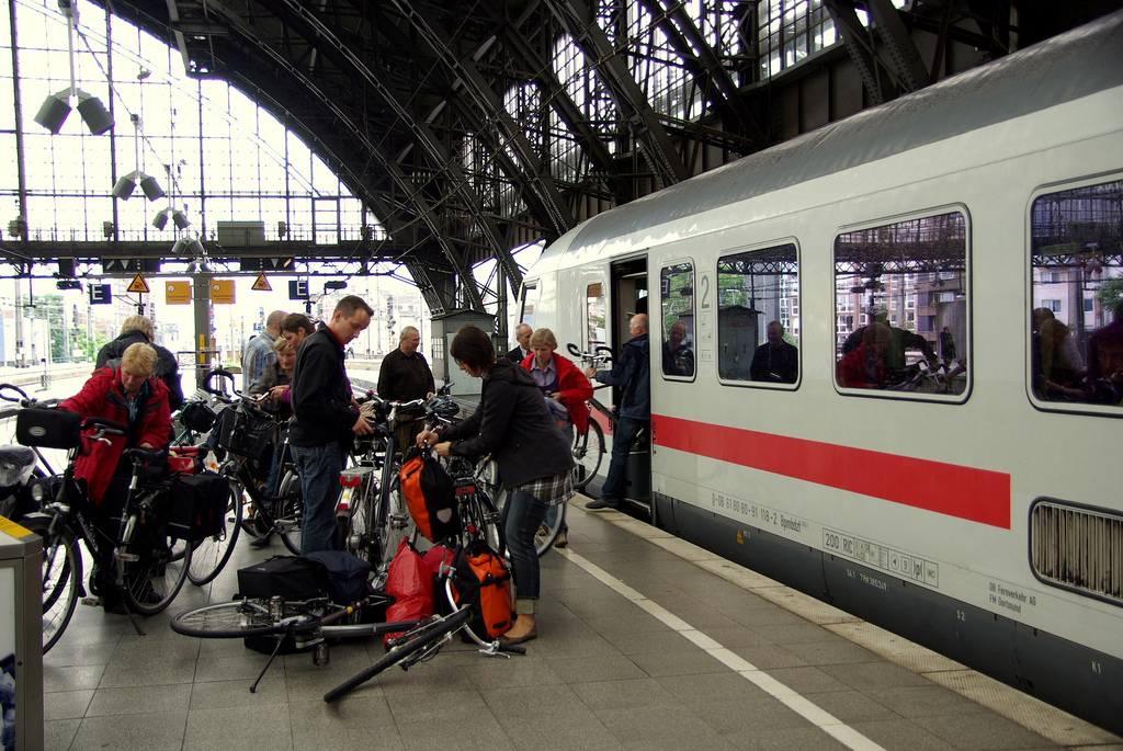 Cómo viajar en tren con bicicleta