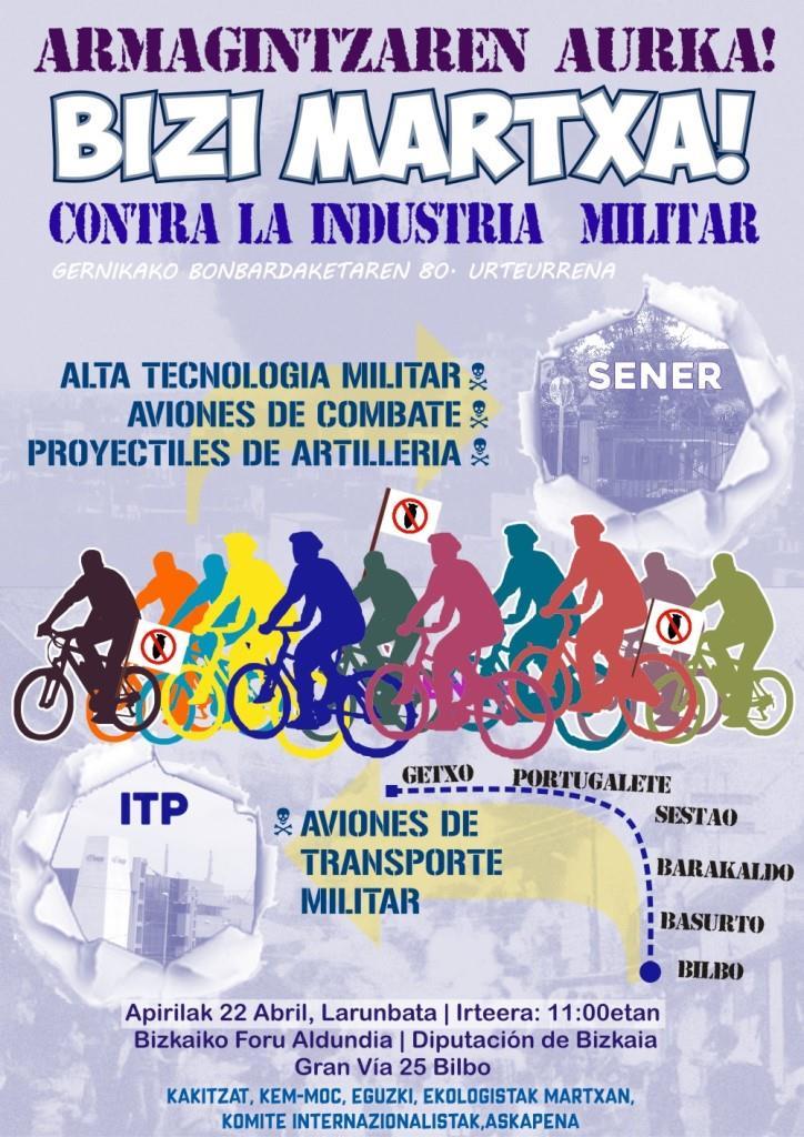 Marcha contra la industria militar