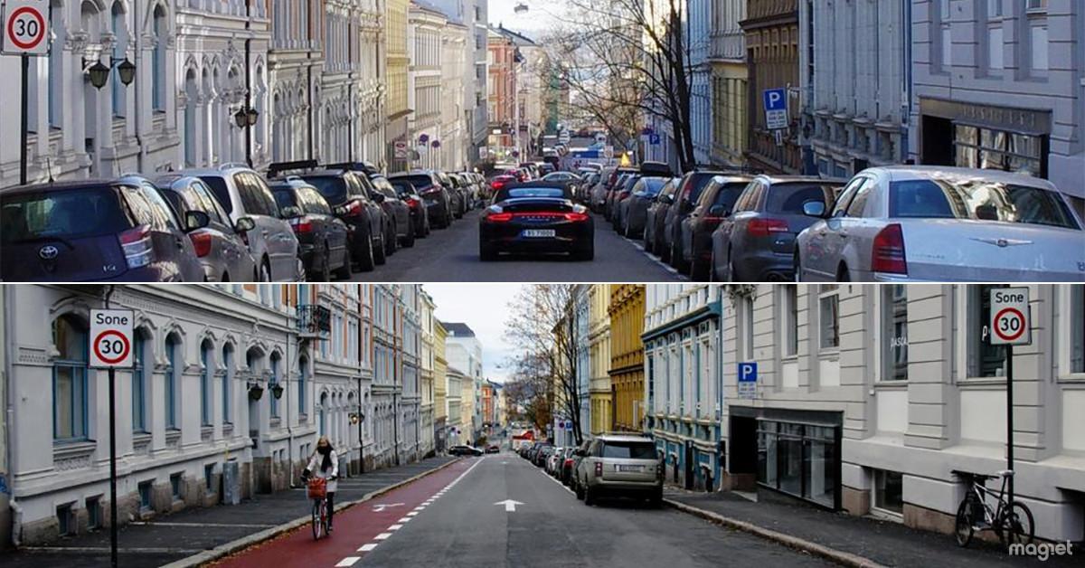 Oslo recupera el espacio de los aparcamientos